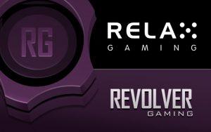 Revolver Gaming and Relax Gaming logos